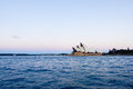 Sydney Opera House at sunset Royalty Free Stock Photo