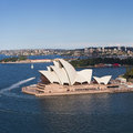 Sydney opera house a view of in australia Royalty Free Stock Photo