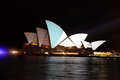 Sydney Opera House Vivid Festival Royalty Free Stock Photo