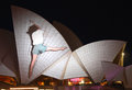 Sydney Opera House on Vivid Sydney Stock Image