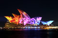 Sydney opera house on vivid sydney the customs during is an annual festival of music idea and light in Stock Photos