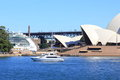Sydney Opera House, yacht and cruise ship Stock Image