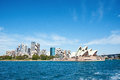 Sydney skyline from the habor architecture australia bay blue boat bridge building business city cityscape color contemporary copy Royalty Free Stock Image