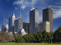 Sydney skyline view of business district Royalty Free Stock Images