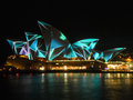 Sydney vivid festival june french artist group superbien project their designs on to the sydneyopera house during the june Stock Image