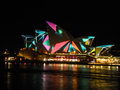 Sydney vivid festival in the night at sydney australia Royalty Free Stock Photography