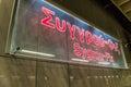 Syggrou fix metro station waiting for metro Royalty Free Stock Photo