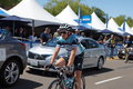 Sylvain chavanel amgen tour of ca omega pharma quick step at the start stage the california in escondido california Royalty Free Stock Photos