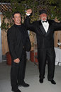 Sylvester stallone hulk hogan actor left with wrestler actor at universal amphitheatre hollywood where was inducted into the Stock Photos