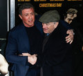 Sylvester stallone robert deniro new york dec actor r and attend the world premiere of grudge match at the ziegfeld theatre on Royalty Free Stock Photos