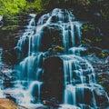 Sylvia falls blue mountains australia in the laura nsw Stock Image