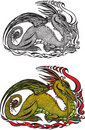 Symbol 2012 dragon Stock Image