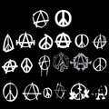 Symbol anarchy peace logo pack isolated vector Royalty Free Stock Image