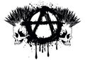 Symbol anarchy and two skulls