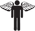 Symbol angel Stock Image