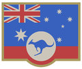 Symbol australia elegance creative design of symbols Royalty Free Stock Image