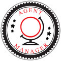 Symbol av en resebyråman eller en chef Arkivfoton