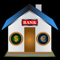 Symbol of the bank Stock Photo