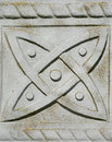 Symbol within a Celtic Tombstone cross Stock Image