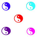 Symbol chinese philosophy concept yin yang simlifiled chinese Stock Photos