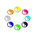 Symbol chinese philosophy concept yin yang simpifiled chinese Stock Image