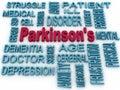 Symbol der parkinson krankheit d lokalisiert auf weiß psychische gesundheit s Lizenzfreies Stockfoto