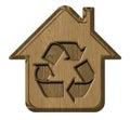 Symbol ecological house Royalty Free Stock Photo