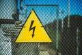 Symbol electricity Royalty Free Stock Photo
