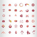Symbol elements set vector for web design Stock Images