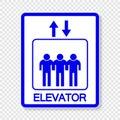 symbol Elevator upward and downward sign on transparent background