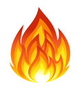 Symbol of fire vector illustration Royalty Free Stock Photo