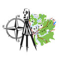 Symbol for geodesy and cartography Royalty Free Stock Photo