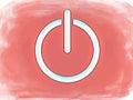 Symbol Grunge för on-off strömbrytare Arkivbild