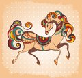 Symbol of horse year the decorative Royalty Free Stock Photos