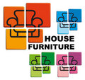 Symbol of house furniture Stock Image