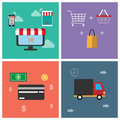 A symbol icon for online shopping. Show business functions Can be used in various media. So we can understand the work of the