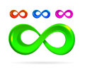 The symbol of infinity on white Royalty Free Stock Photo