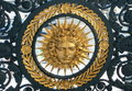 Symbol of Louis XIV, Sun King Stock Images