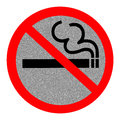 Symbol of no smoking zone sign with reflect background Royalty Free Stock Image