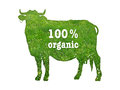 Symbol of organic beef Royalty Free Stock Photo