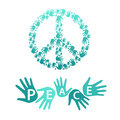 Symbol of pacifism and peace Royalty Free Stock Photo