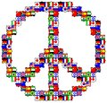 The symbol of peace in puzzles Stock Image