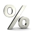 Symbol of percent Stock Image