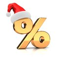 Symbol of percent with hat Stock Photo