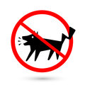 Symbol prohibited dogs barking no barking on white background vector illustration Royalty Free Stock Photo
