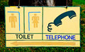 The Symbol of restroom and telephone Royalty Free Stock Images