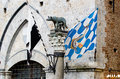 Symbol of Siena with the Palio flags Royalty Free Stock Photo