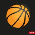 Symbol soft basketball ball of realistic vector illustration Stock Image