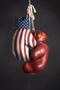 Symbol the struggle for economic power between the united state usa and china Royalty Free Stock Photography