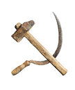 Symbol of the USSR hammer and sickle Royalty Free Stock Photo